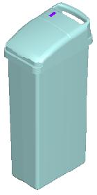 Sensor Sanitary Bin Blue