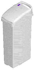 Sensor Sanitary Bin WhiteSMALL